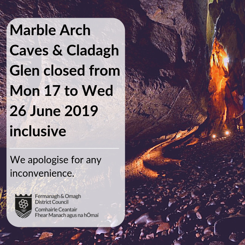 Temporary closure of Marble Arch Caves