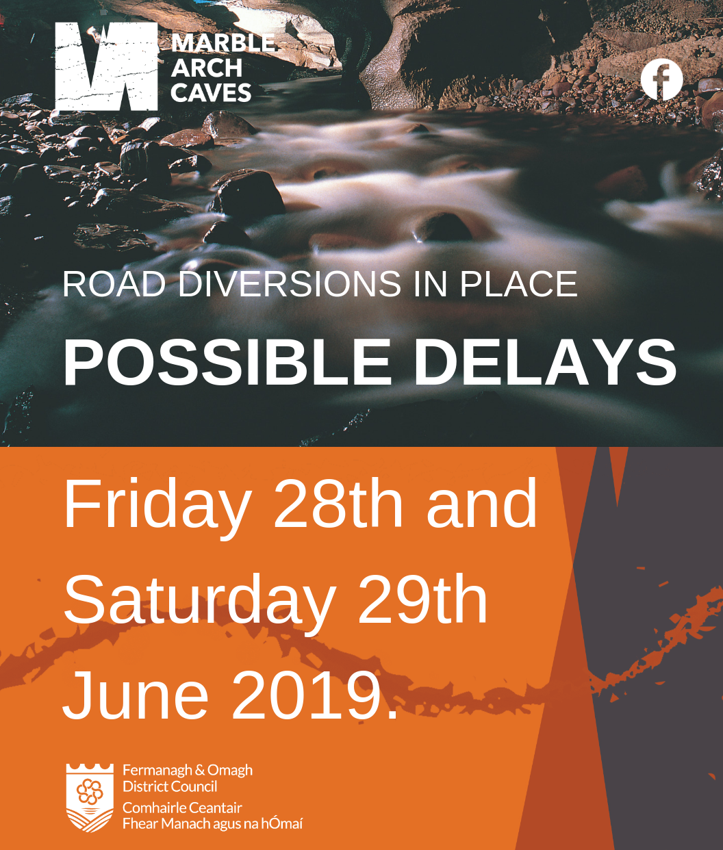 Possible delays road diversions in place 28 and 29 June