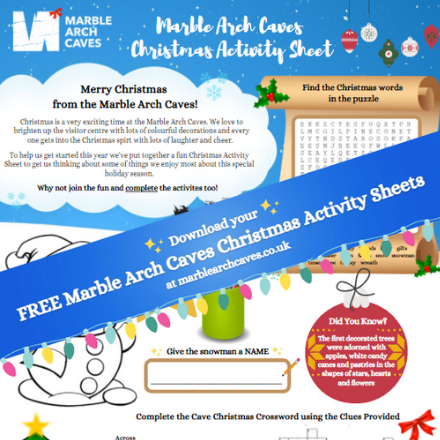 ☃️ Marble Arch Caves Christmas Activity Sheet ✏️